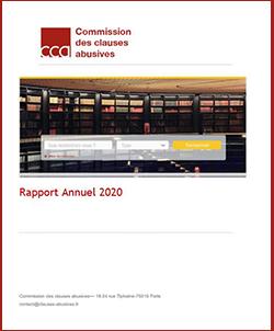 Couverture du rapport annuel 2020 de la CCA